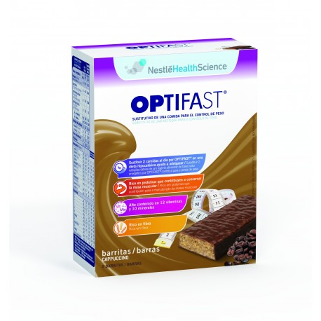 Optifast barritas de capuccino 6u