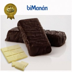 Bimánan barritas sustitutive chocolate negro y blanco 8u