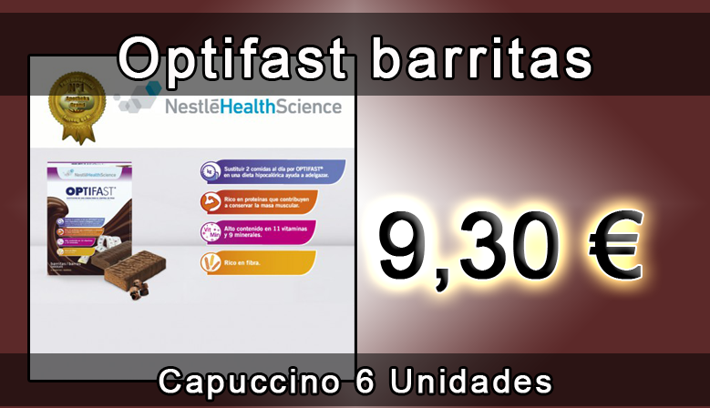 Optifast barritas de capuccino 6 unidades